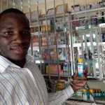 young doctor in pharmacie