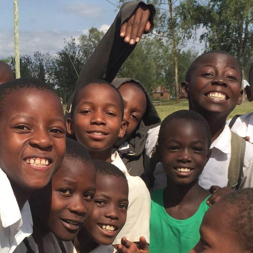 happy boys at school